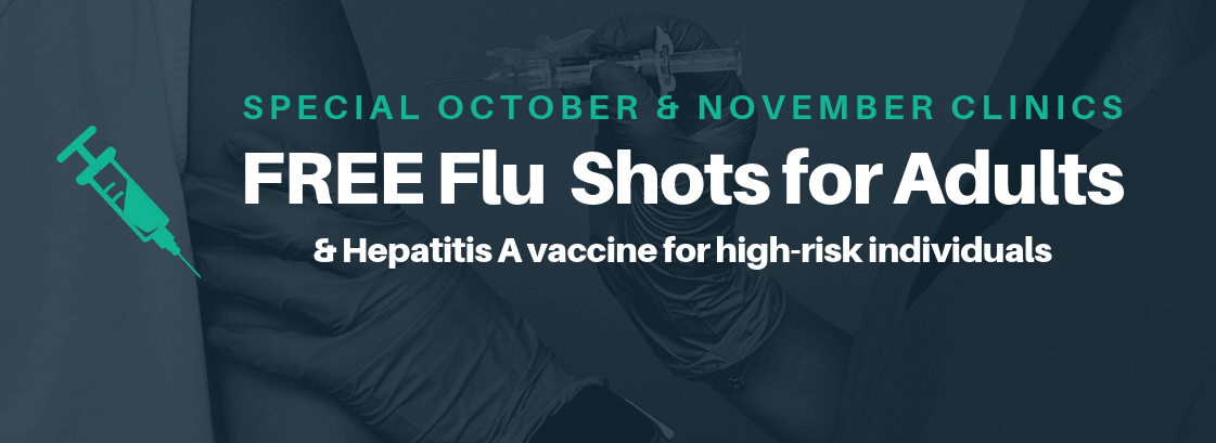 Flu and Hepatitis A shots for Adults